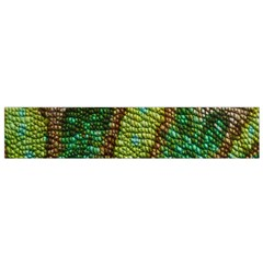 Colorful Chameleon Skin Texture Flano Scarf (small) by Simbadda