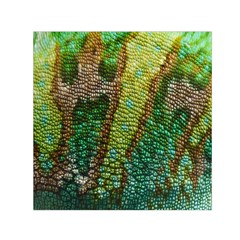 Colorful Chameleon Skin Texture Small Satin Scarf (square) by Simbadda