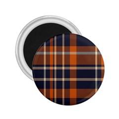 Tartan Background Fabric Design Pattern 2 25  Magnets by Simbadda