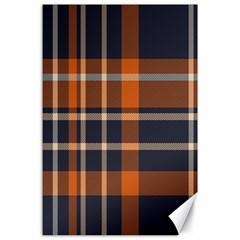 Tartan Background Fabric Design Pattern Canvas 24  X 36  by Simbadda