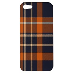 Tartan Background Fabric Design Pattern Apple Iphone 5 Hardshell Case by Simbadda