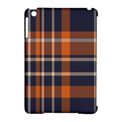 Tartan Background Fabric Design Pattern Apple Ipad Mini Hardshell Case (compatible With Smart Cover) by Simbadda