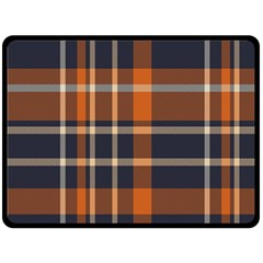 Tartan Background Fabric Design Pattern Double Sided Fleece Blanket (large)  by Simbadda