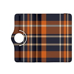 Tartan Background Fabric Design Pattern Kindle Fire Hdx 8 9  Flip 360 Case by Simbadda