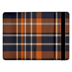 Tartan Background Fabric Design Pattern Samsung Galaxy Tab Pro 12 2  Flip Case by Simbadda