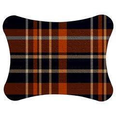 Tartan Background Fabric Design Pattern Jigsaw Puzzle Photo Stand (bow) by Simbadda
