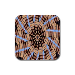 Manipulated Reality Of A Building Picture Rubber Coaster (square)  by Simbadda
