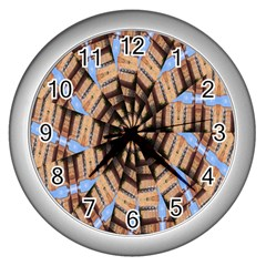 Manipulated Reality Of A Building Picture Wall Clocks (silver)  by Simbadda