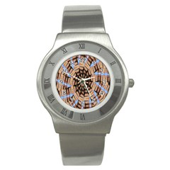 Manipulated Reality Of A Building Picture Stainless Steel Watch by Simbadda