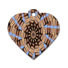 Manipulated Reality Of A Building Picture Dog Tag Heart (two Sides) by Simbadda