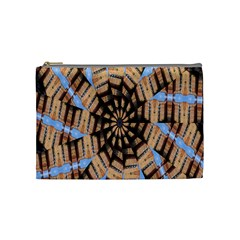 Manipulated Reality Of A Building Picture Cosmetic Bag (medium)  by Simbadda