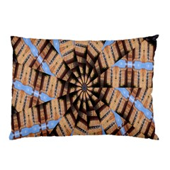 Manipulated Reality Of A Building Picture Pillow Case (two Sides) by Simbadda