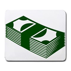 Rich Dollar Money Green Large Mousepads by Alisyart