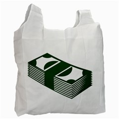Rich Dollar Money Green Recycle Bag (one Side) by Alisyart