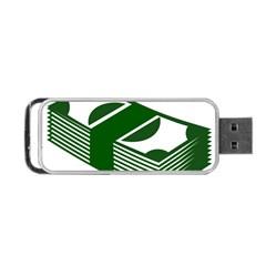 Rich Dollar Money Green Portable Usb Flash (one Side) by Alisyart