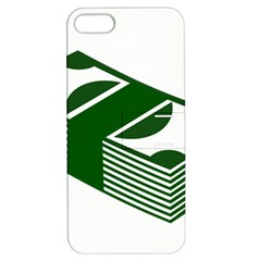 Rich Dollar Money Green Apple Iphone 5 Hardshell Case With Stand by Alisyart