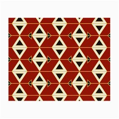 Triangle Arrow Plaid Red Small Glasses Cloth by Alisyart