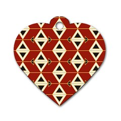 Triangle Arrow Plaid Red Dog Tag Heart (two Sides) by Alisyart