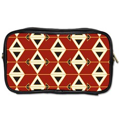 Triangle Arrow Plaid Red Toiletries Bags 2 Side by Alisyart