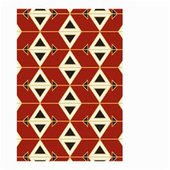 Triangle Arrow Plaid Red Small Garden Flag (two Sides) by Alisyart