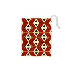 Triangle Arrow Plaid Red Drawstring Pouches (xs)  by Alisyart