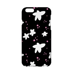 Square Pattern Black Big Flower Floral Pink White Star Apple Iphone 6/6s Hardshell Case by Alisyart