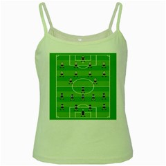 Soccer Field Football Sport Green Spaghetti Tank