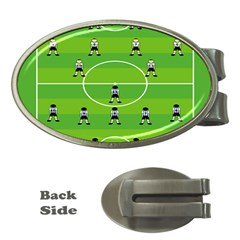 Soccer Field Football Sport Money Clips (oval)  by Alisyart