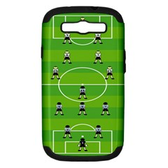 Soccer Field Football Sport Samsung Galaxy S Iii Hardshell Case (pc+silicone) by Alisyart