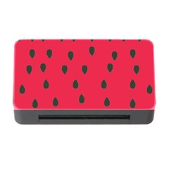 Watermelon Fan Red Green Fruit Memory Card Reader With Cf by Alisyart