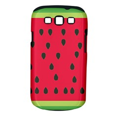 Watermelon Fan Red Green Fruit Samsung Galaxy S Iii Classic Hardshell Case (pc+silicone) by Alisyart