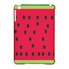 Watermelon Fan Red Green Fruit Apple Ipad Mini Hardshell Case (compatible With Smart Cover) by Alisyart