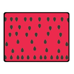 Watermelon Fan Red Green Fruit Double Sided Fleece Blanket (small)  by Alisyart