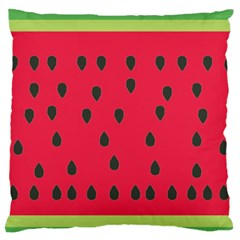 Watermelon Fan Red Green Fruit Large Flano Cushion Case (two Sides) by Alisyart