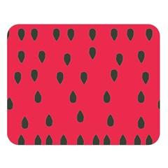 Watermelon Fan Red Green Fruit Double Sided Flano Blanket (large)  by Alisyart