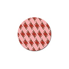 Variant Red Line Golf Ball Marker by Alisyart