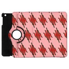 Variant Red Line Apple Ipad Mini Flip 360 Case by Alisyart