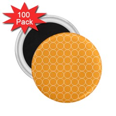 Yellow Circles 2 25  Magnets (100 Pack)  by Alisyart