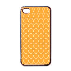 Yellow Circles Apple Iphone 4 Case (black) by Alisyart