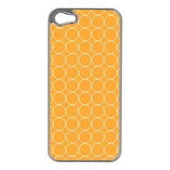 Yellow Circles Apple Iphone 5 Case (silver) by Alisyart