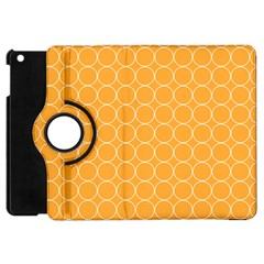 Yellow Circles Apple Ipad Mini Flip 360 Case by Alisyart