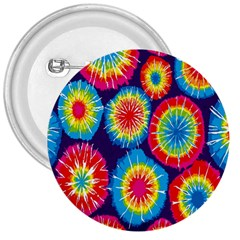 Tie Dye Circle Round Color Rainbow Red Purple Yellow Blue Pink Orange 3  Buttons by Alisyart