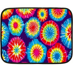 Tie Dye Circle Round Color Rainbow Red Purple Yellow Blue Pink Orange Double Sided Fleece Blanket (mini)  by Alisyart