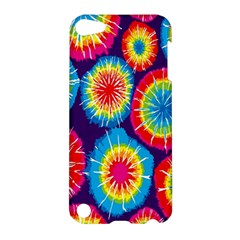 Tie Dye Circle Round Color Rainbow Red Purple Yellow Blue Pink Orange Apple Ipod Touch 5 Hardshell Case by Alisyart