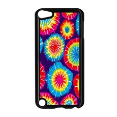 Tie Dye Circle Round Color Rainbow Red Purple Yellow Blue Pink Orange Apple Ipod Touch 5 Case (black) by Alisyart