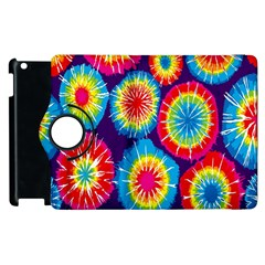 Tie Dye Circle Round Color Rainbow Red Purple Yellow Blue Pink Orange Apple Ipad 2 Flip 360 Case by Alisyart
