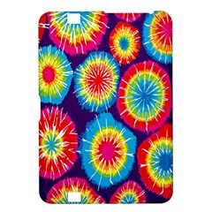 Tie Dye Circle Round Color Rainbow Red Purple Yellow Blue Pink Orange Kindle Fire Hd 8 9  by Alisyart