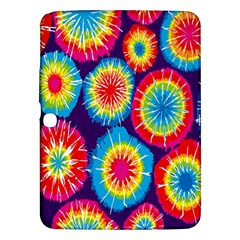 Tie Dye Circle Round Color Rainbow Red Purple Yellow Blue Pink Orange Samsung Galaxy Tab 3 (10 1 ) P5200 Hardshell Case  by Alisyart