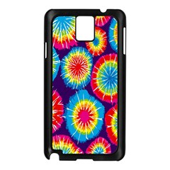Tie Dye Circle Round Color Rainbow Red Purple Yellow Blue Pink Orange Samsung Galaxy Note 3 N9005 Case (black) by Alisyart