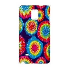 Tie Dye Circle Round Color Rainbow Red Purple Yellow Blue Pink Orange Samsung Galaxy Note 4 Hardshell Case by Alisyart